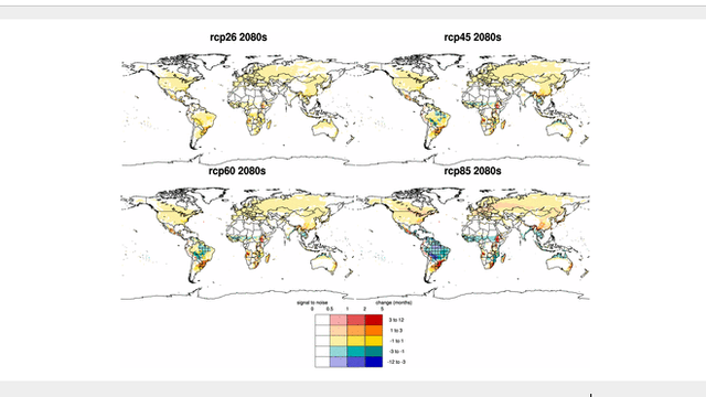 Impact of climate change on global malaria distribution